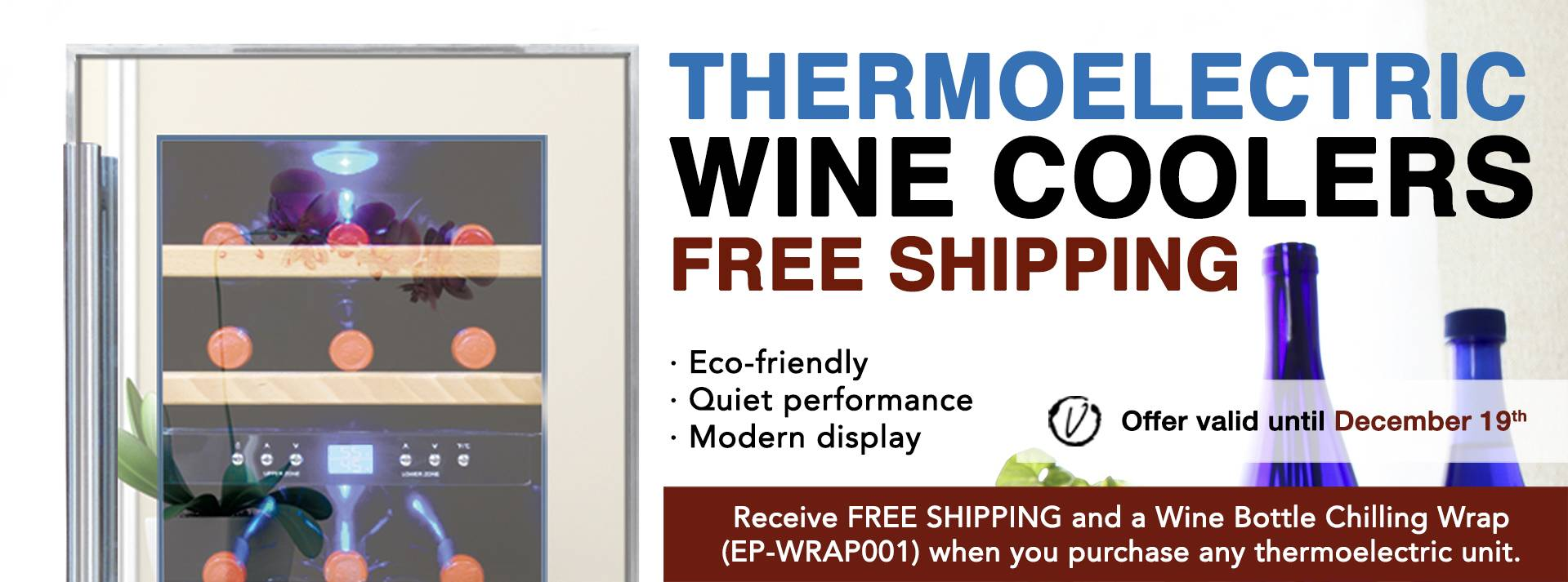Free Shipping on Thermoelectric Wine Coolers