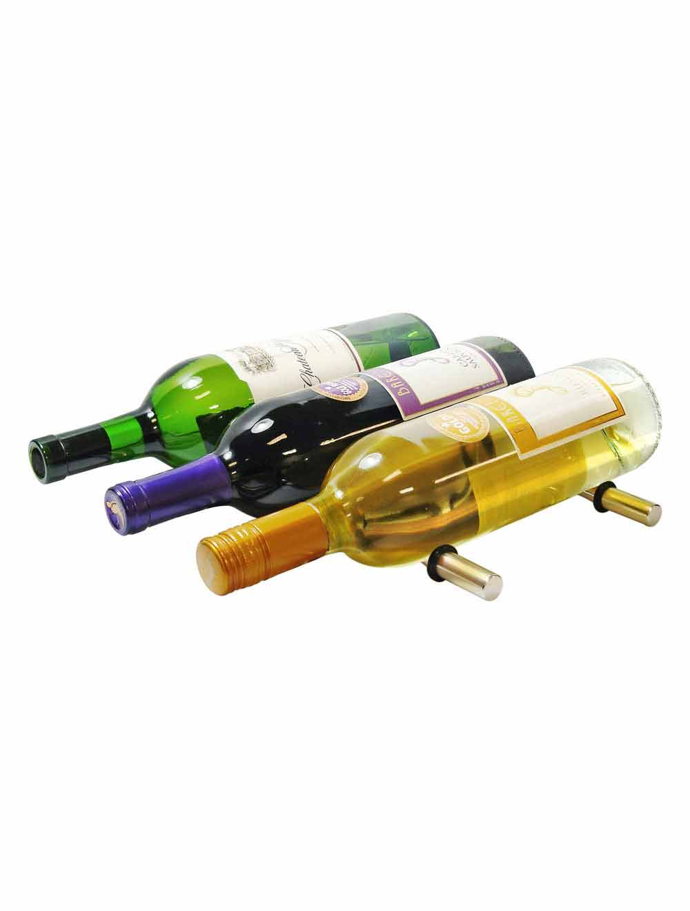 3-bottle peg wine rack