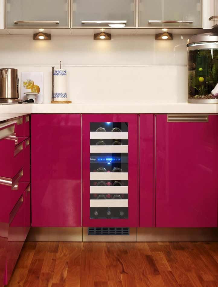 cooler in violet kitchen
