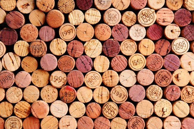 layers of corks