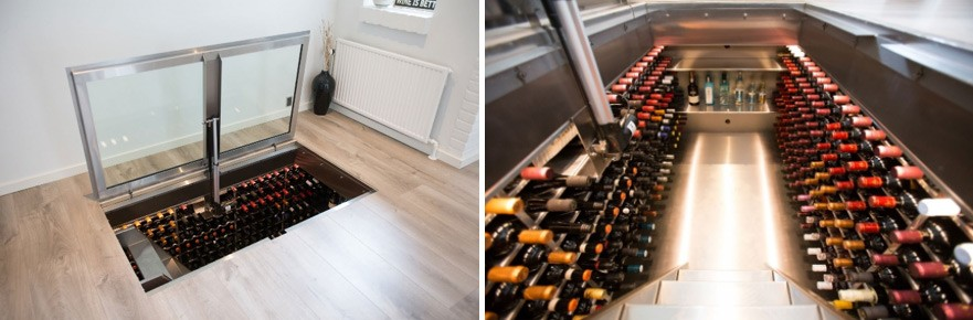 cellar images side by side
