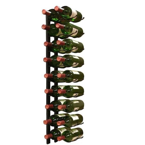 bottles on wire rack