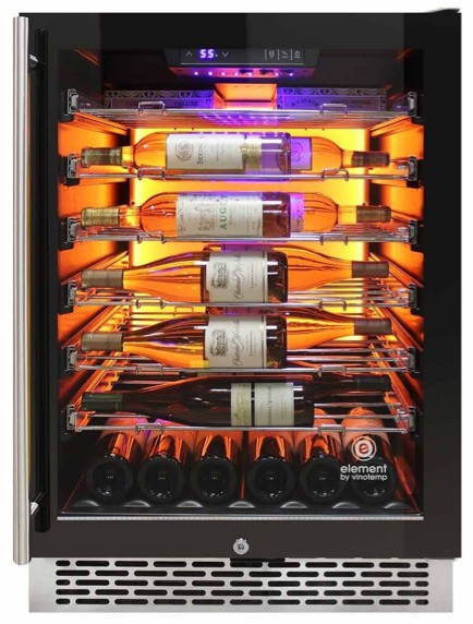 wine cooler with backlit