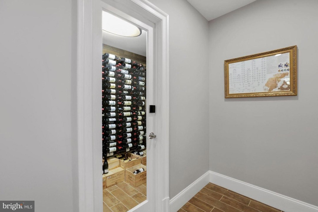 wine room with wire racking