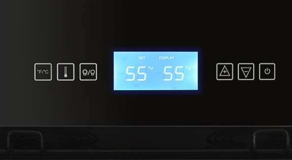 control panel at 55 degrees
