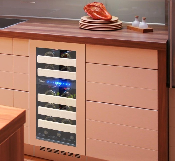 cooler in coral kitchen