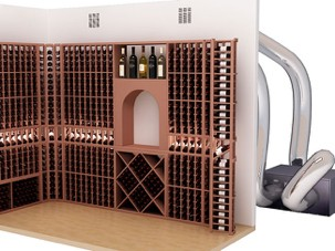 cellar with ducted system