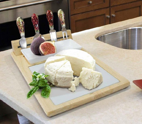 cheese tray in kitchen