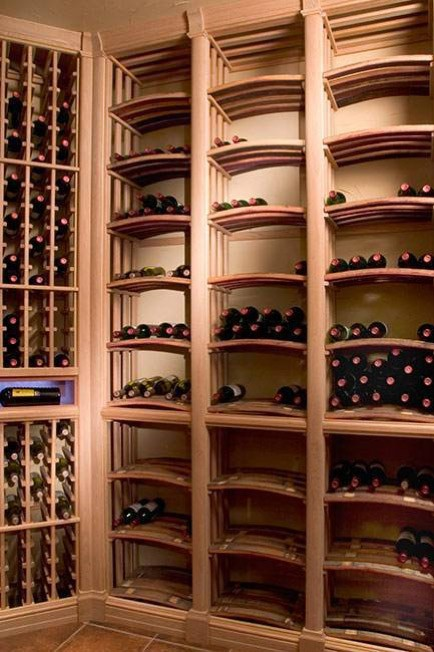 all wood wine cellar