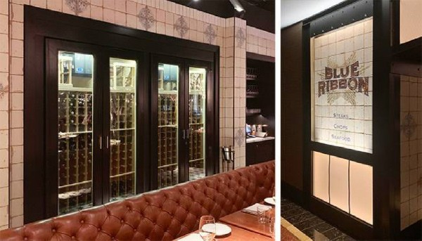 cabinets in restaurant