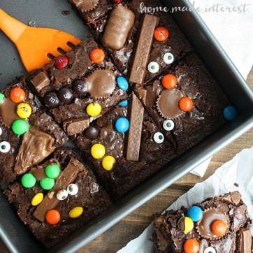 brownies with candy