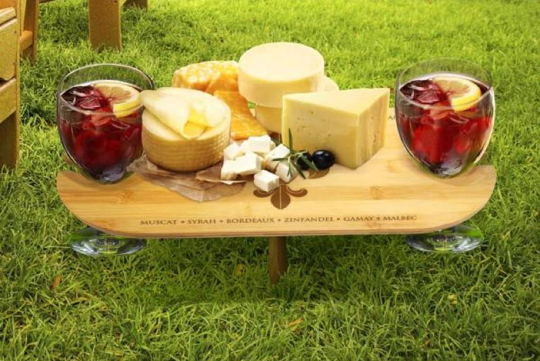cheese plate outdoors