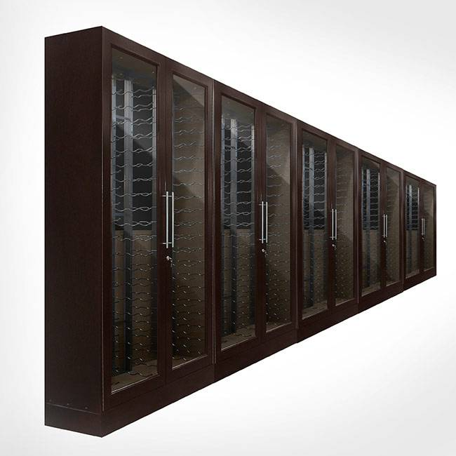 Custom 10-Door Wire Rack Glass Cabinets Thumbnail 2