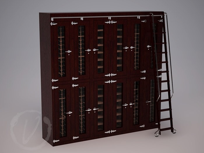 Custom Stacked Wine Locker (Option 1) Thumbnail 2