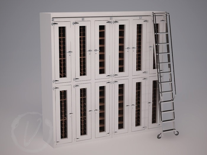 Custom Stacked Wine Locker (Option 2) Thumbnail 2