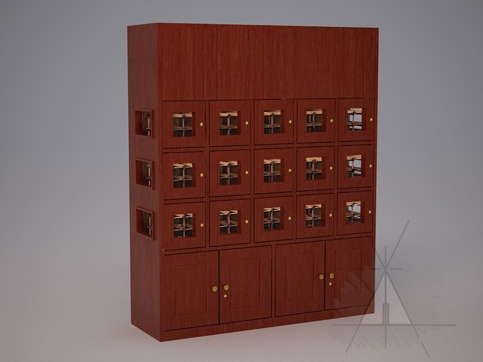 Custom 15 Cubicle Wine Lockers (Option 1) Thumbnail 2