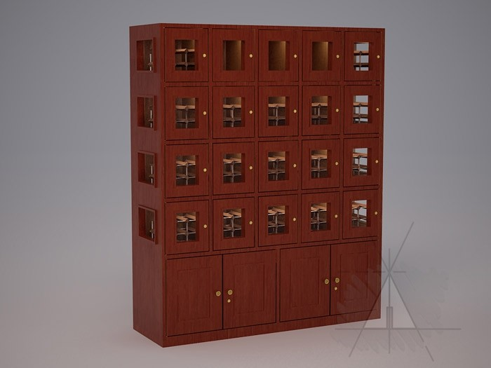 Custom 15 Cubicle Wine Lockers (Option 2) Thumbnail 2
