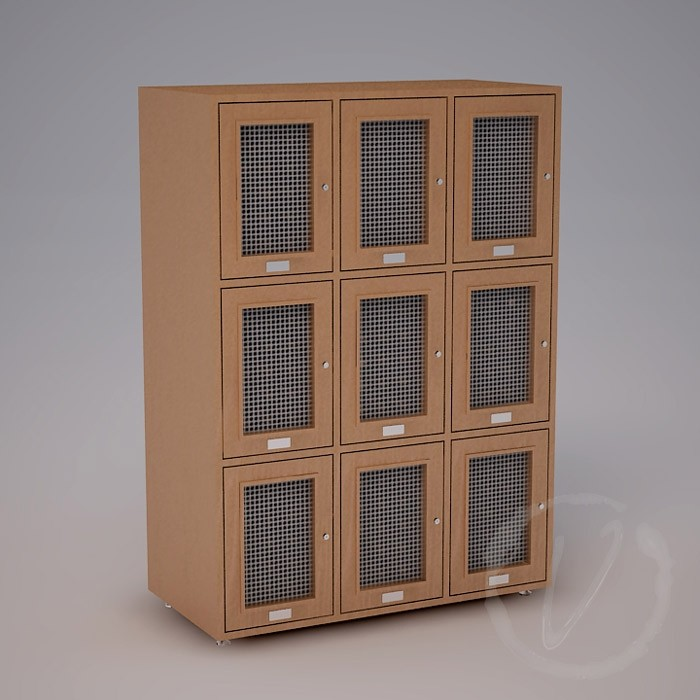 Custom 9 Cubicle Wine Locker (Option 1) - Natural Thumbnail 2