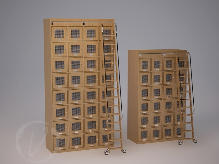 Two Custom Wine Lockers with Step Ladder Thumnail 2