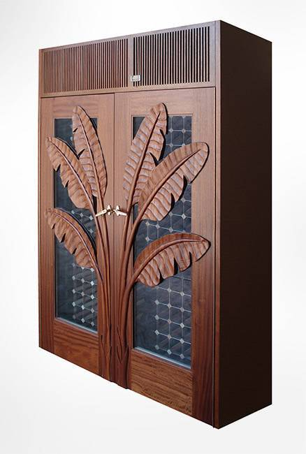 Custom Palm Wood Cabinet Thumbnail 2