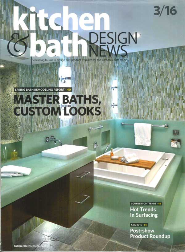 As shown in Kitchen & Bath Design News