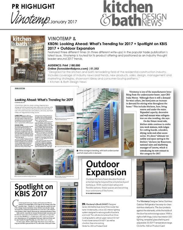 Featured in Kitchen & Bath Design News for KBIS 2017