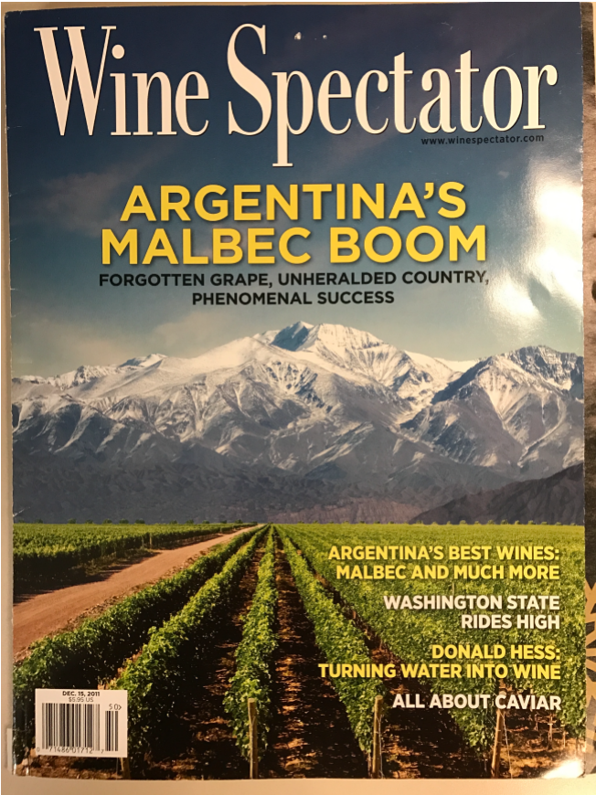 Vinotemp Dual-Zone Dispensor/Cooler and Epicureanist Trilux Wine Aerator featured in Wine Spectator