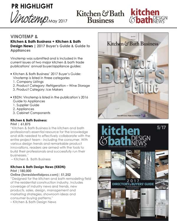 Kitchen & Bath Design News and Kitchen & Bath Business feature Vinotemp