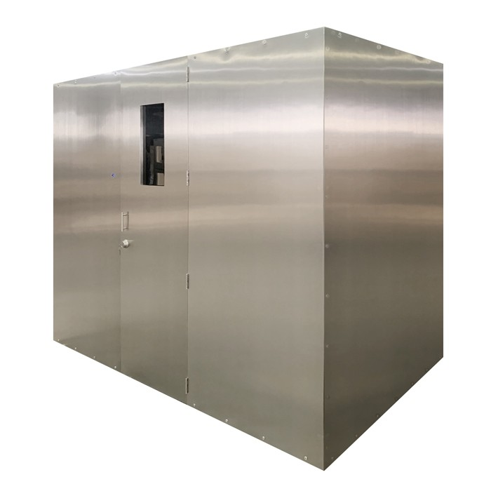 Custom Brushed Stainless Steel Walk-In Wine Cabinet Thumbnail 2