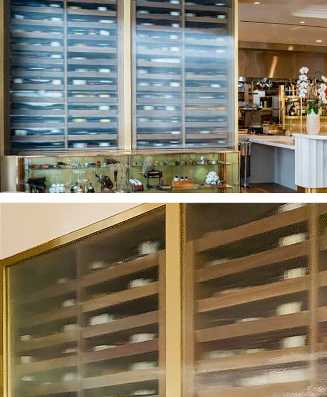 Custom Wine Cabinets Knife Pleat Restaurant, South Coast Plaza, CA. Thumbnail 2