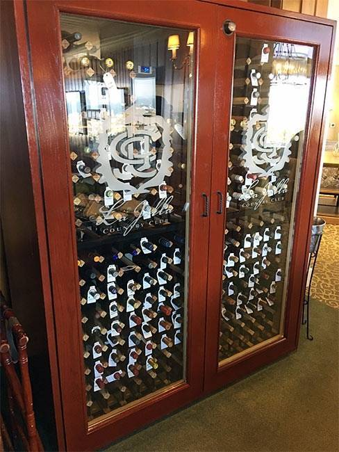 La Jolla Country Club, CA, Wine Cabinet Thumbnail 2