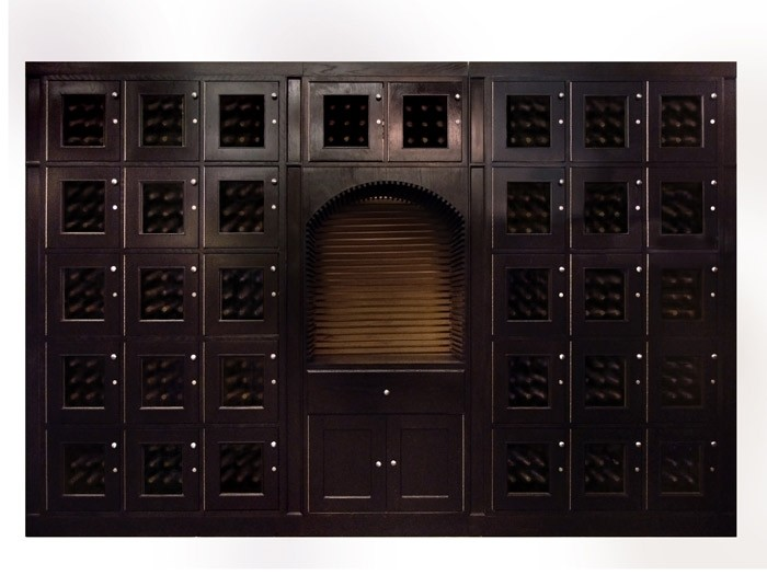 Mahogany Custom Wine Locker Thumbnail 2