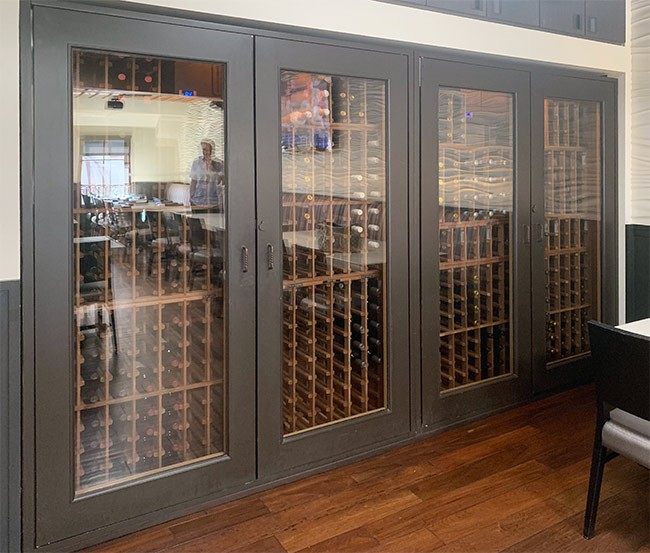 Custom Wine Cabinets Skyloft Restaurant, Laguna Beach, CA. Thumbnail 2