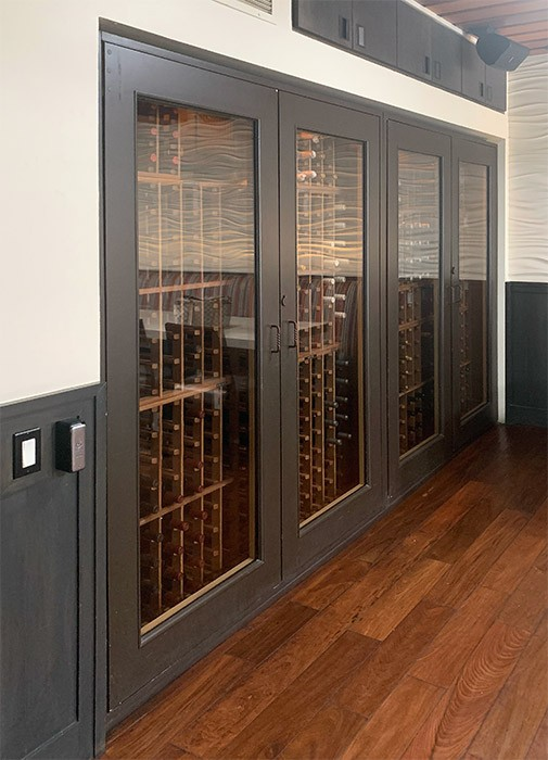 Custom Wine Cabinets Skyloft Restaurant, Laguna Beach, CA. Thumbnail 4