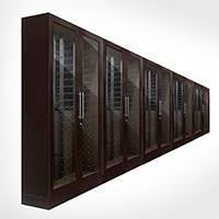 Custom 10-Door Wire Rack Glass Cabinets Thumbnail 1