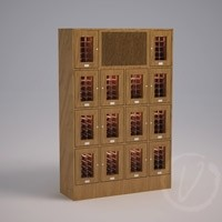 Custom 14 Cubicle Wine Locker with Cooling System Thumbnail 1