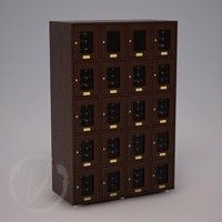 Custom 20 Cubicle Wine Locker- Dark Brown Thumbnail 1