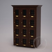 Custom 12 Cubicle Wine Locker (Option 1) - Dark Brown Thumbnail 1