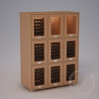 Custom 9 Cubicle Wine Locker (Option 2) - Natural Thumbnail 1