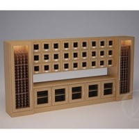 Custom Wine Locker with Countertop Thumbnail 1
