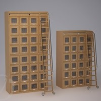 Two Custom Wine Lockers with Step Ladder Thumnail 1