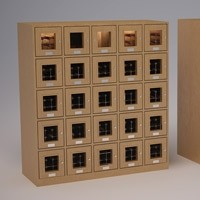 Double Custom 25-Cubicle Wine Lockers Thumbnail 1