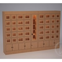 Custom Wine Locker with Middle Rack Display (Option 1) Thumbnail 1