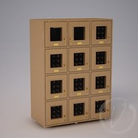12 Cubicle Wine Locker - Natural Thumbnail 1