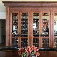 Commercial 6-Door Wood Wine Cabinet Thumbnail 1