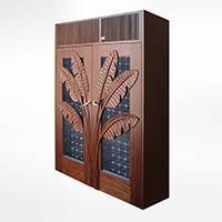 Custom Palm Wood Cabinet Thumbnail 1
