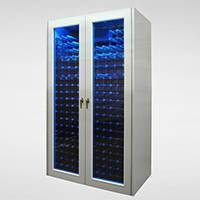 Custom Aluminum Blue LED Cabinet Thumbnail 1