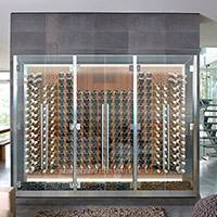 Custom Glass Cabinet with Peg Racking Thumbnail 1