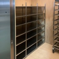 Custom Brushed Stainless Steel Walk-In Wine Cabinet (Interior) Thumbnail 1