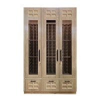 Custom 3-Door<br>Wood and Glass Wine Cabinets Thumbnail
